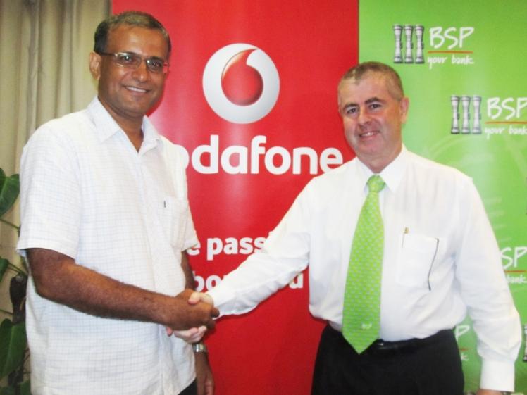 Raj Deo (left) and BSP in Fiji