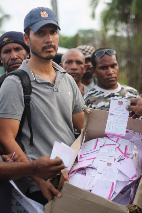 Brian Kramer a contestant in the Madang By-Elections